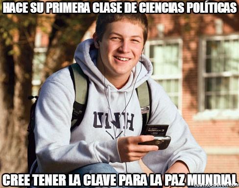 Universitario_primer_curso - Hace su primera clase de ciencias políticas