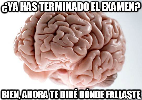 aprobar,cerebro,examen,fallo,memoria,suspender,traidor