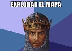 Enlace a Age of Empires y la exploración del mapa