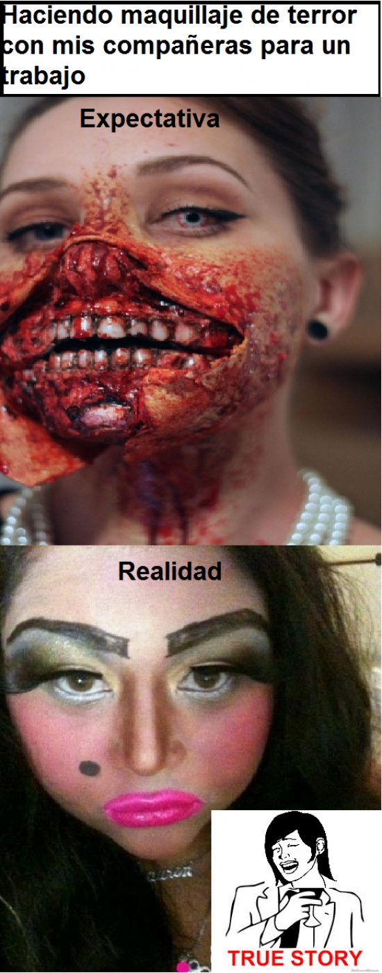 choni,Fail,maquillaje,maquillar,miedo,monsturo,true story,¿nikki minaj eres tu?