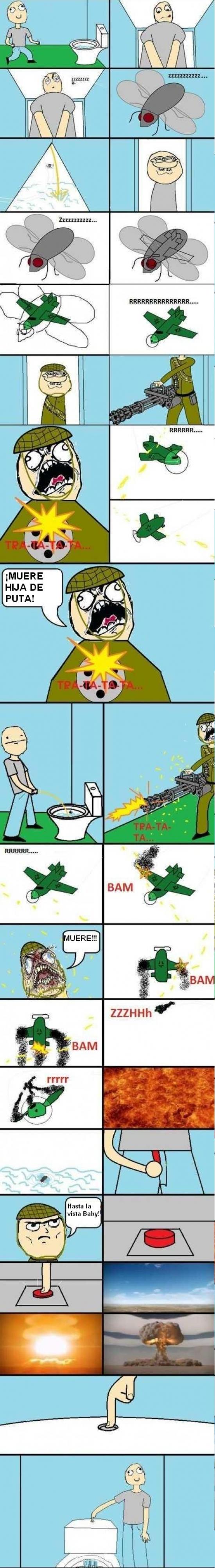 boton,derribar,lavabo,mear,mosca,pipi,retrete,soldado,tirar de la cadena