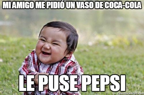 Nino_malvado - Mi amigo me pidió un vaso de coca-cola