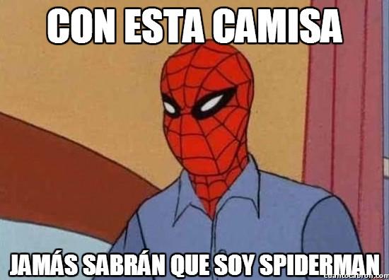 astuto,camisa,descubrir,jamas,retraso,spiderman