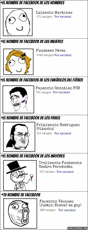 Lol - Los distintos nobres de Facebook según las personas