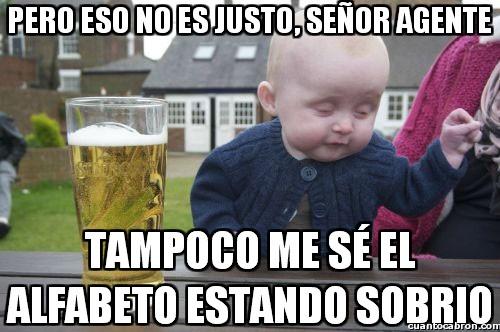 Bebe_borracho - Injusticias policiales hacia los bebés