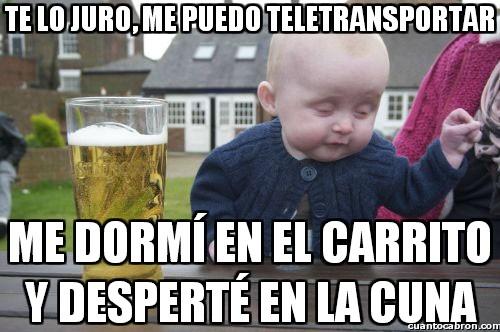 Bebe_borracho - El bebé que se podía teletransportar