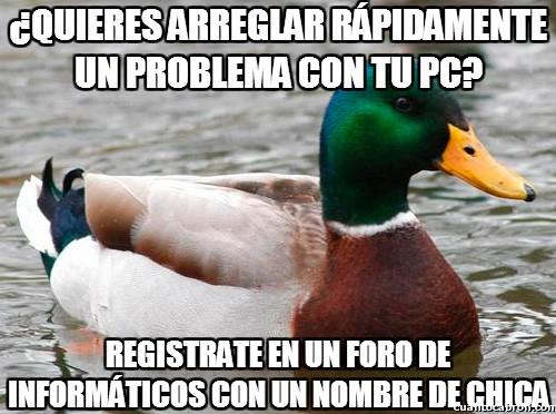 Pato_consejero - ¿Quieres arreglar rápidamente un problema con tu pc?