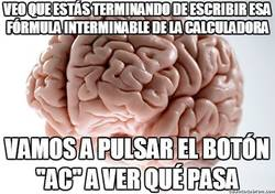 Enlace a La unión del cerebro con la calculadora troll