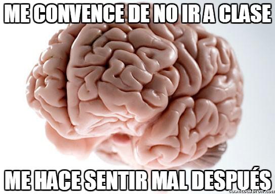 cerebro,clase,ir,no asistir