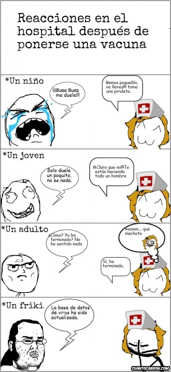 adulto,enfermera,Friki,joven,niño,reación,vacuna