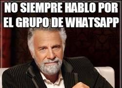 Enlace a No siempre hablo por el grupo de whatsapp