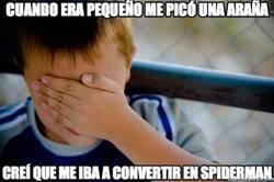 Enlace a Cuando era pequeño me picó una araña