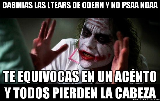Joker - Cabmias las ltears de odern y no psaa ndaa