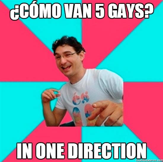 Bad_joke_deivid - ¿Cómo van 5 gays?