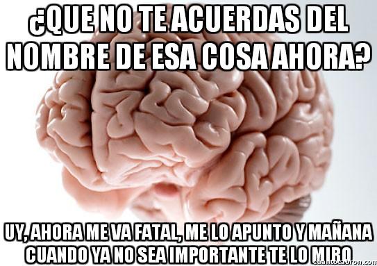 cerebro troll,mañana,me lo apunto,memoria,nombre,recordar