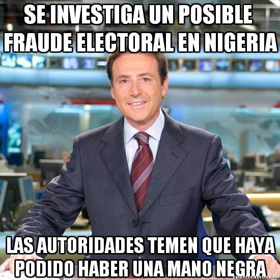 Meme_matias - Fraude electoral en Nigeria