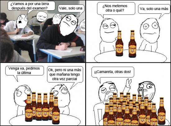 Lol - Cervezas en época de examenes, cuidado que se te van de las manos