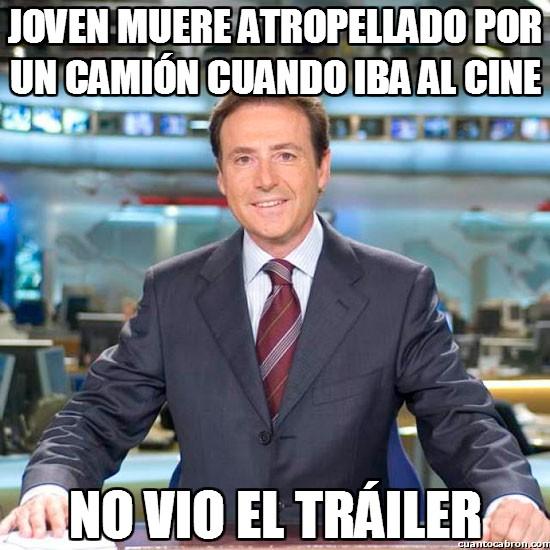 Meme_matias - Joven muere atropellado por un camión cuando iba al cine