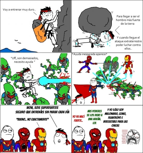 entrenar,extraterrestres,fuerza,iron man,spiderman,superheroes,superman