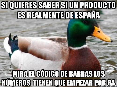 Pato_consejero - Si quieres saber si un producto es realmente de España