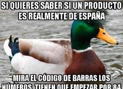 Enlace a Si quieres saber si un producto es realmente de España