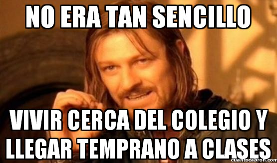 Boromir - No era tan sencillo, no...