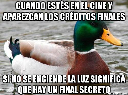 Pato_consejero - La manera de saber si hay final secreto después de los créditos
