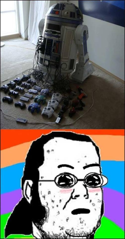 amazed,consola,friki,multi,R2 D2,videojuegos