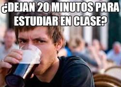 Enlace a ¿Dejan 20 minutos para estudiar en clase?