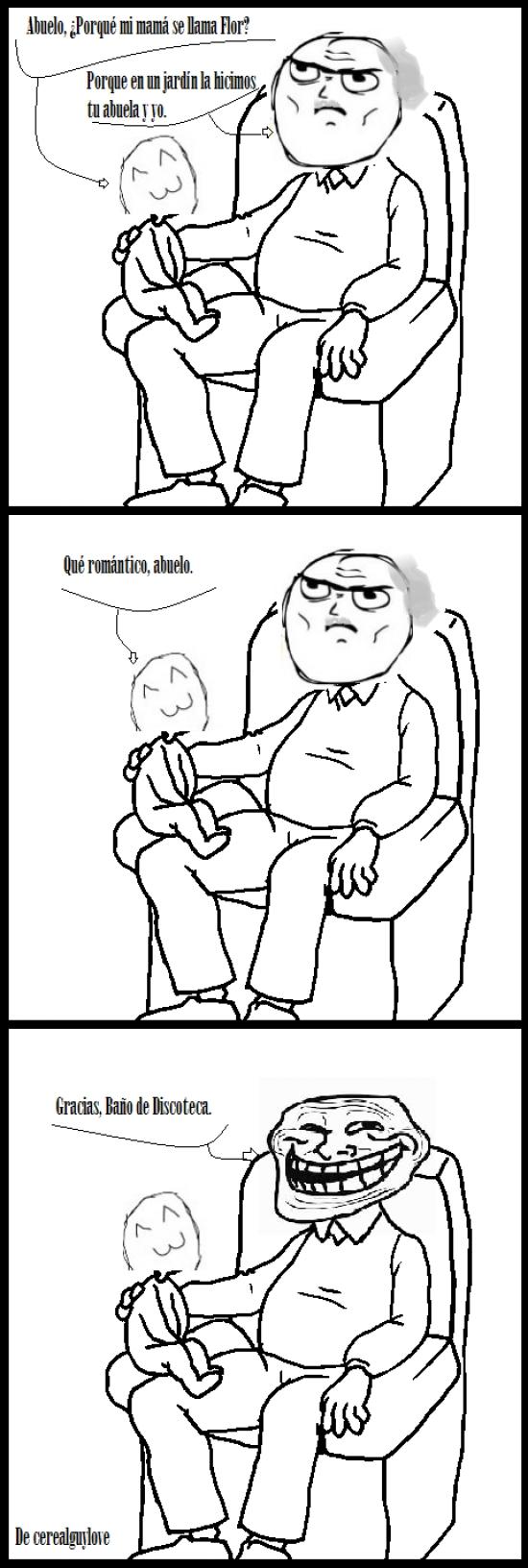 Trollface - Ese momento incómodo con tu abuelo