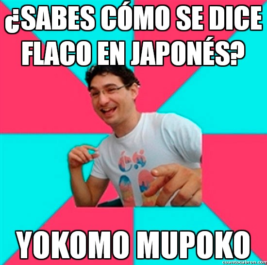 flaco,idioma,japones,yokomo mupoko