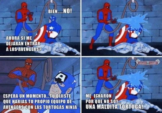 avengers,capitan america,rechazar,spiderman,tortugas ninja,vengadores