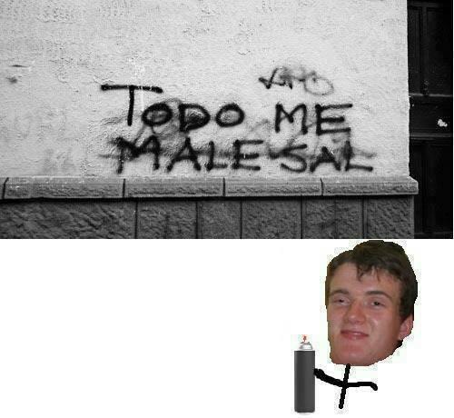 grafitti,sale mal,todo me male sal