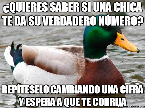 Pato_consejero - ¿Quieres saber si una chica te da su verdadero número?