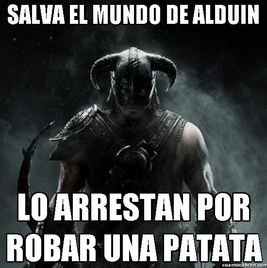 Meme_otros - Salva el mundo de Alduin