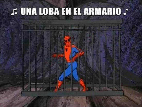 cancion,jaula,loba,shakira,spiderman