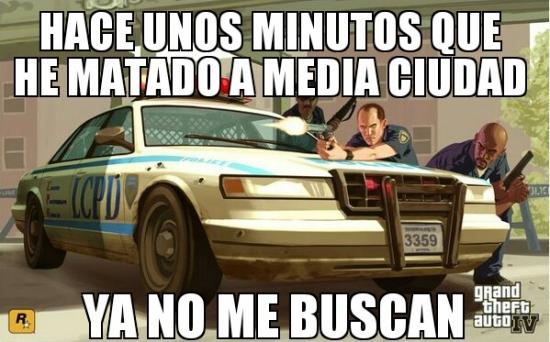 Meme_otros - Lógica de los policías de GTA
