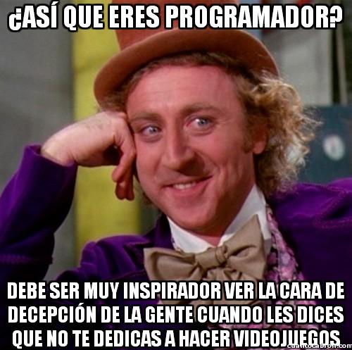 Wonka - ¿Así que eres programador?
