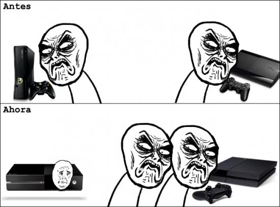 consolas,desprecio,infinito,microsoft,ps4,sony,videojuegos,Xbox one