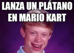 Enlace a Lanza un plátano en Mario Kart