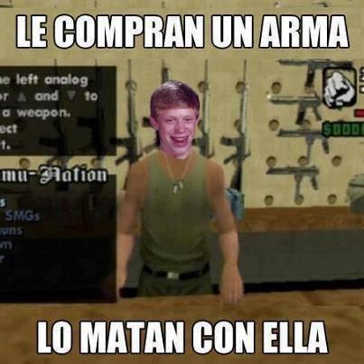 Bad_luck_brian - Ya sé de quién es pariente el de la tienda de armas del GTA