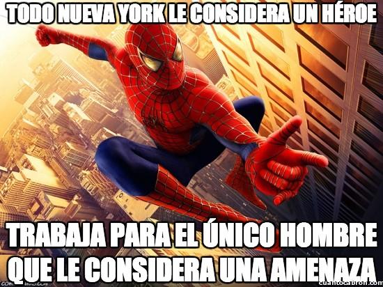amenaza,héroe,peter parker,spiderman