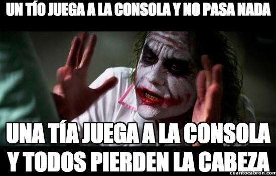 Joker - Las mujeres que juegan a la consola, ya sabéis