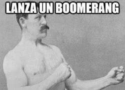 Enlace a Lanza un boomerang