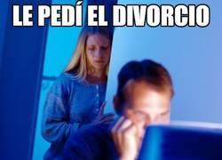 Enlace a Le pedí el divorcio