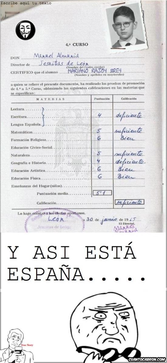 Mother_of_god - Las notas de Rajoy