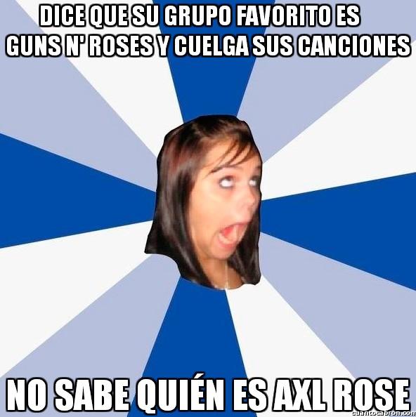 Amiga_facebook_molesta - La típica falsa fan para hacerse la guay