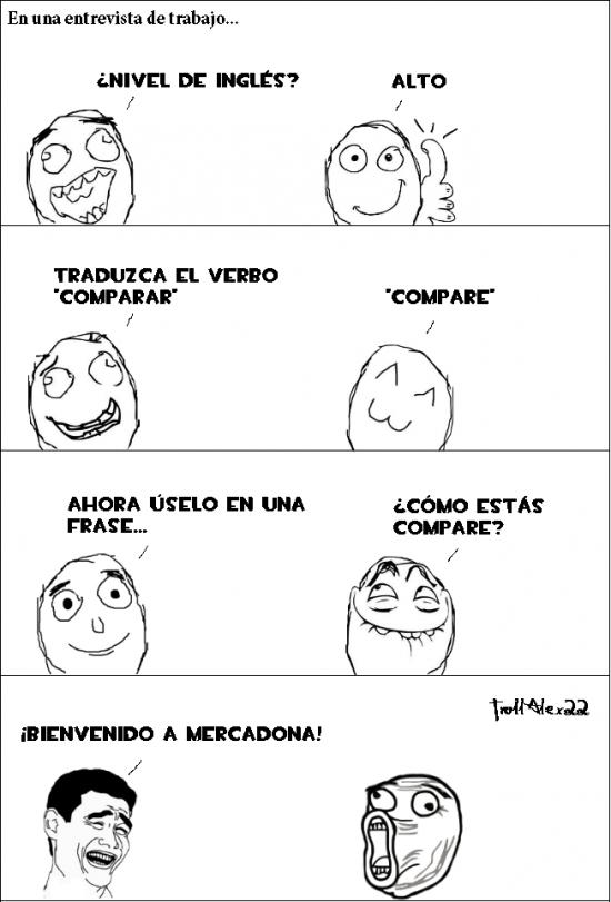 comparar,compare,ingles,nivel,traducir,verbo