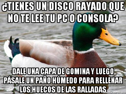 Pato_consejero - Solución para discos rallados