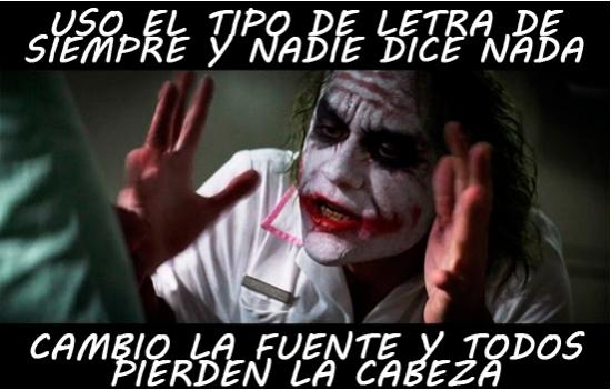 Joker - Jugando con el tipo de letra